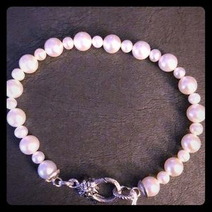 NWT - Ariva Pearl Bracelet with Lobster Claw - 925